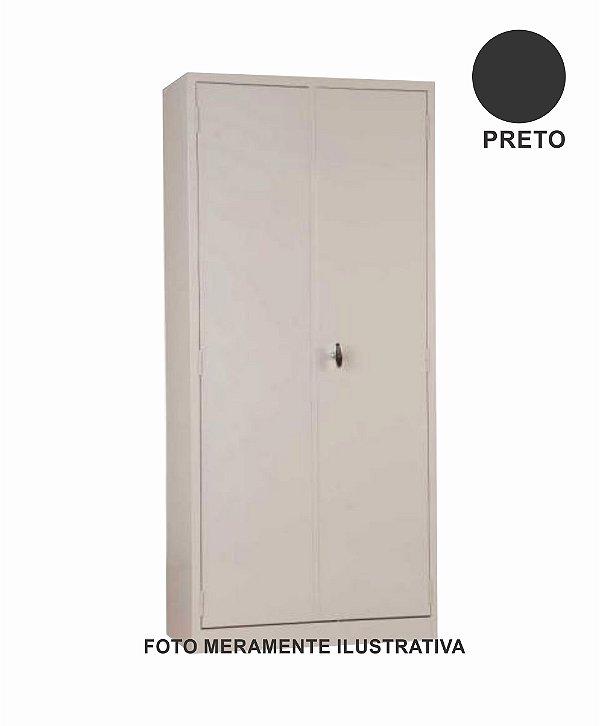 Armário Preto Com Porta - 90 x 198 x 40 cm