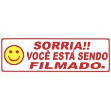 Cartaz Sorria Você Filmado - 300mm x 100mm