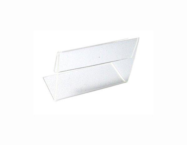 Porta Etiqueta Acrílico Cavalete - 700 mm x 500 mm - Pct 20 Unid