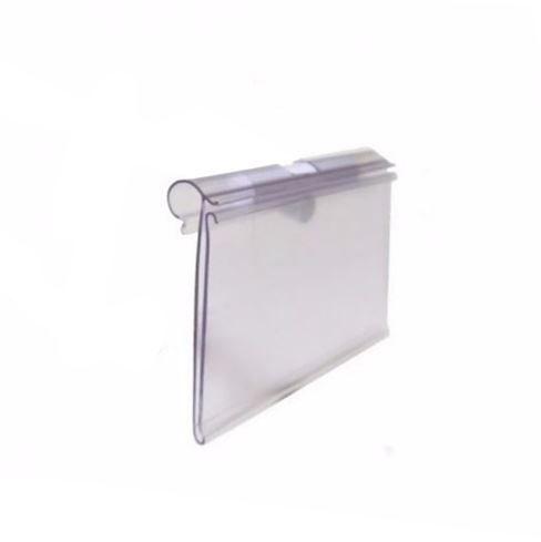 Porta Etiqueta Acrílico - 700 mm x 400 mm - Pct 20 Unid