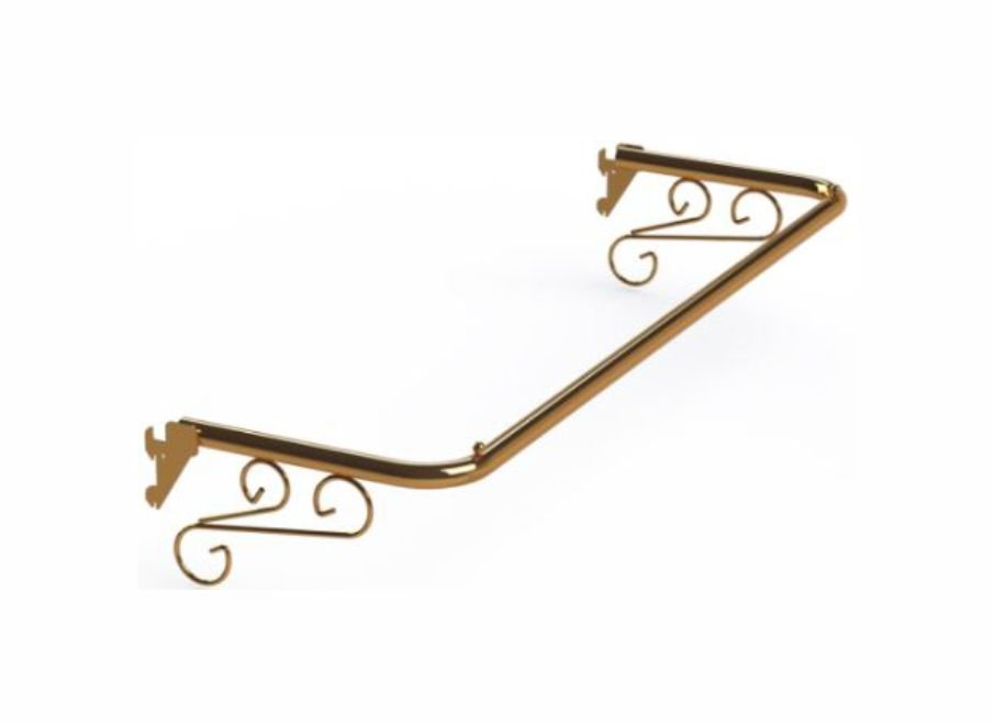 Arara Fixa Cremalheira Tubo Oblongo Ouro Velho - 60 cm