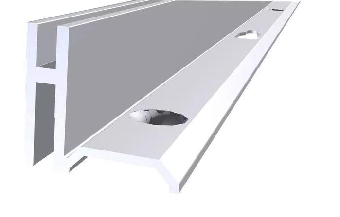 Cremalheira Alumínio Anodizado Direita - 15 mm