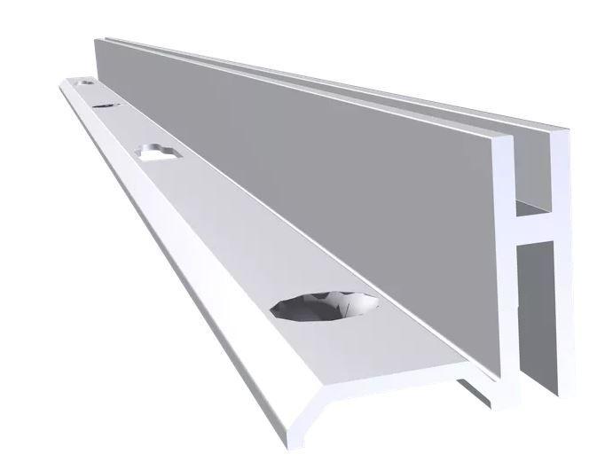 Cremalheira Alumínio Anodizado Esquerda - 15 mm