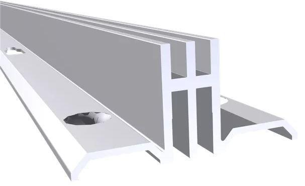 Cremalheira Alumínio Anodizado Dupla - 15 mm
