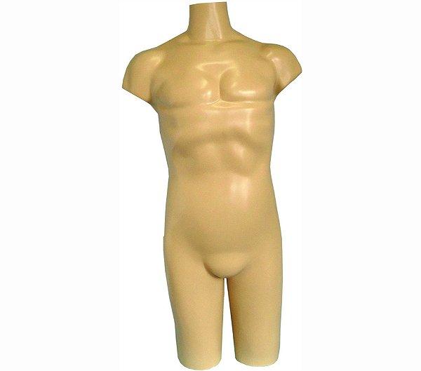 Manequim Plástico R.10 Masculino 1/2 Perna Bege