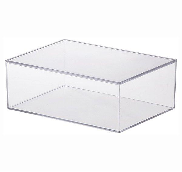 Caixa Organizadora Com Tampa Grande - 22,5 x 8,5 x 16,5 cm