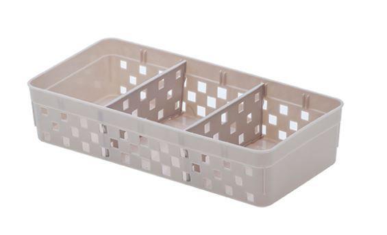 Cesto Organizador Com Divisórias Quadratta - 23 x 5 x 11 cm