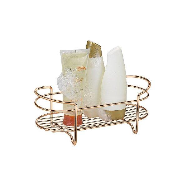 Prateleira Para Shampoo De Bancada Rose Gold - 13,5 x 12,5 x 30 cm