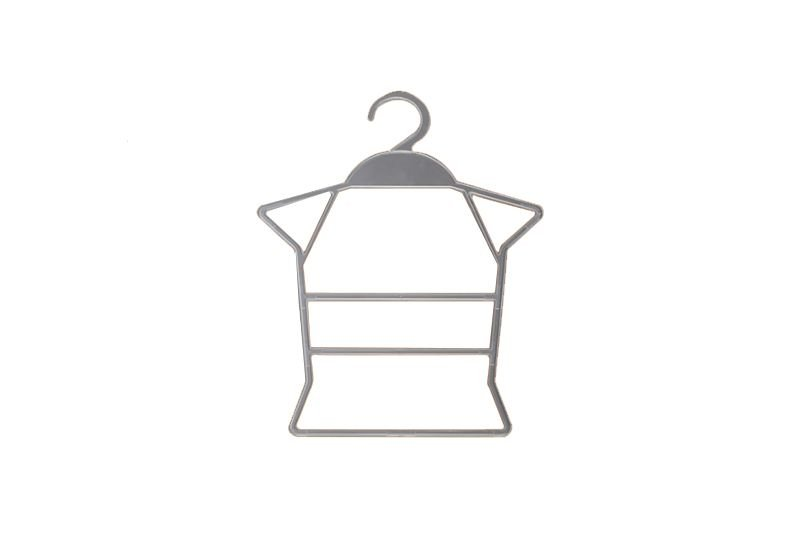 Cabide Transparente Corpo Bebê - Cx 6 Unid - 27 x 36 cm