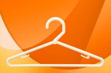 Cabide Plástico Infantil Branco - Cx 25 Unid. - 30 x 14 cm