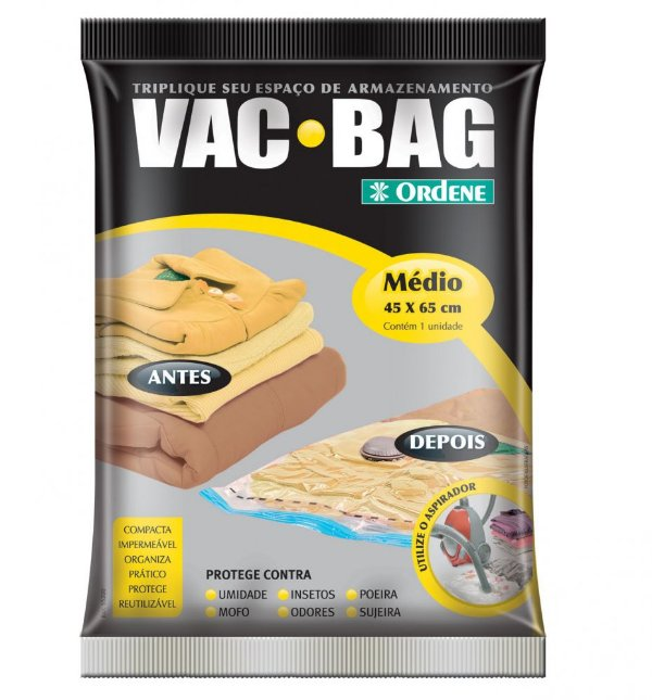 Saco Plástico Para armazenar Vac Bag Médio