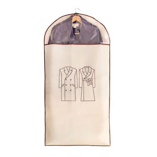 Capa Protetora para Roupa Bege - Grande