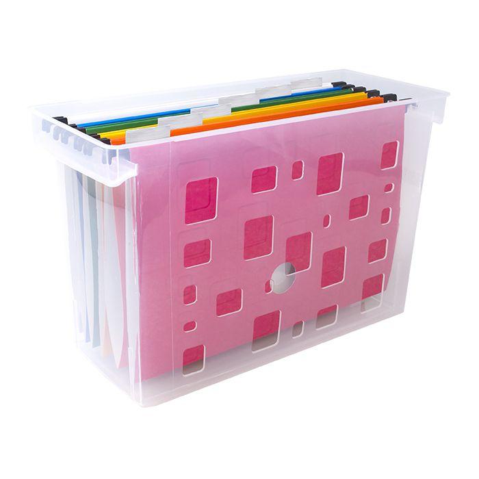 Caixa Arquivo Dellocolor Com 6 Pastas Suspensas Coloridas