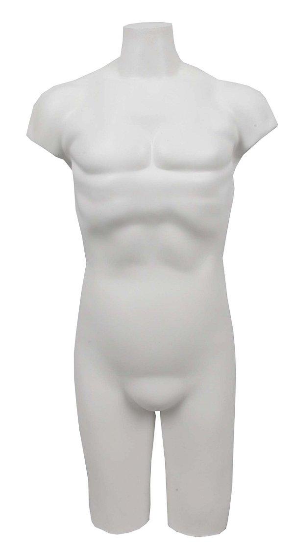 Manequim Plástico R.10 Masculino 1/2 Perna Branco