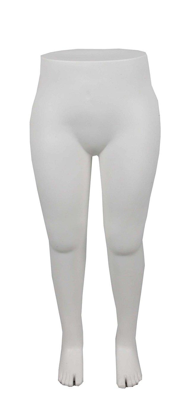 Manequim Plástico R.98 Feminino Perna Inteira Branca