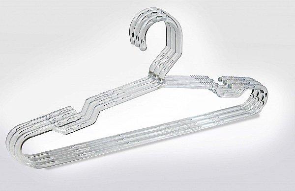 Cabide Transparente Cavado Fixo Gaucho - 43 x 21 cm