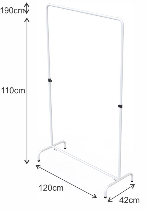 Arara Desfile Altura Regulável - 120 x 110 até 190 cm