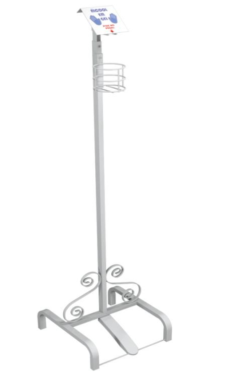 Totem Pedestal Para Álcool em Gel Branco