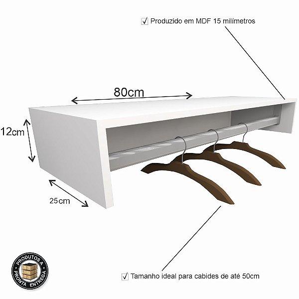 Módulo Cabideiro em MDF 80cm - PROMOCIONAL