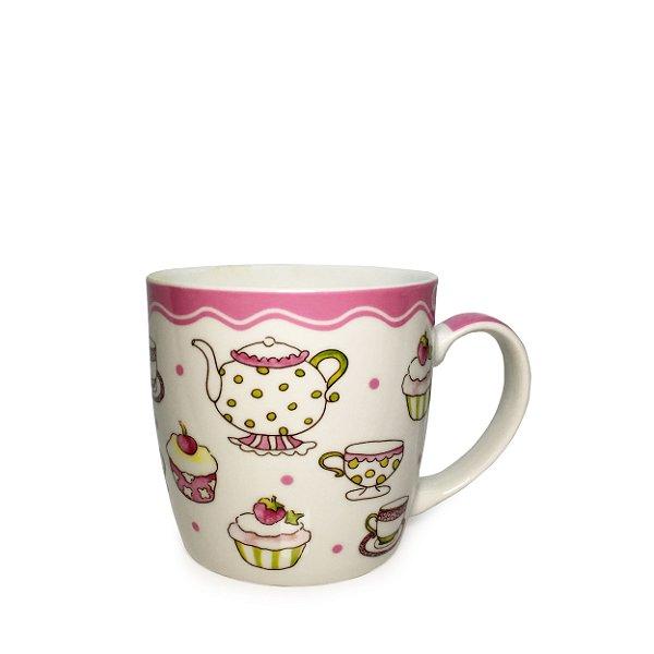 Caneca em Cerâmica Coffee With Jam (350ml) - Rosa