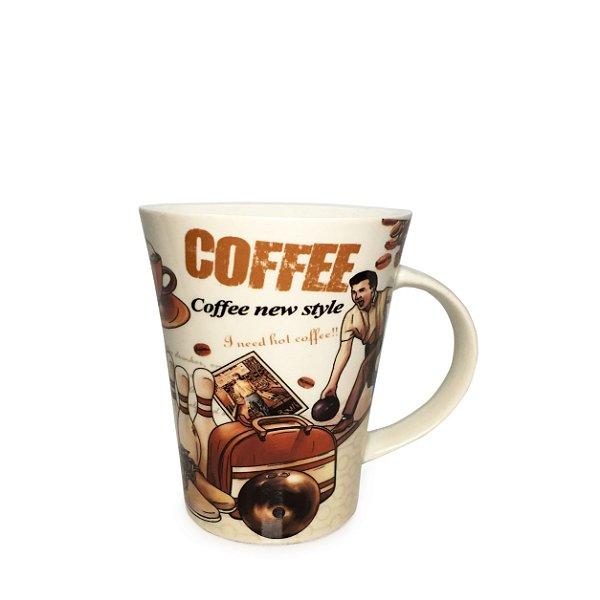 Caneca Em Porcelana Coffee New (350ml) - Branco