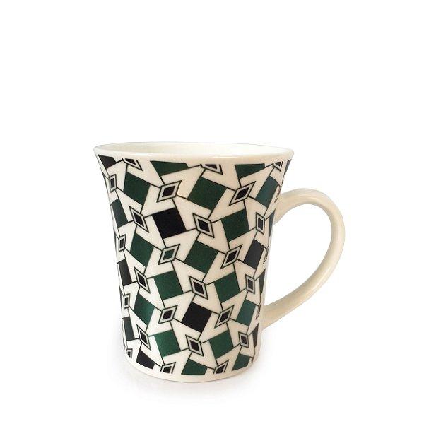 Caneca em Porcelana Losango (350ml) - Verde