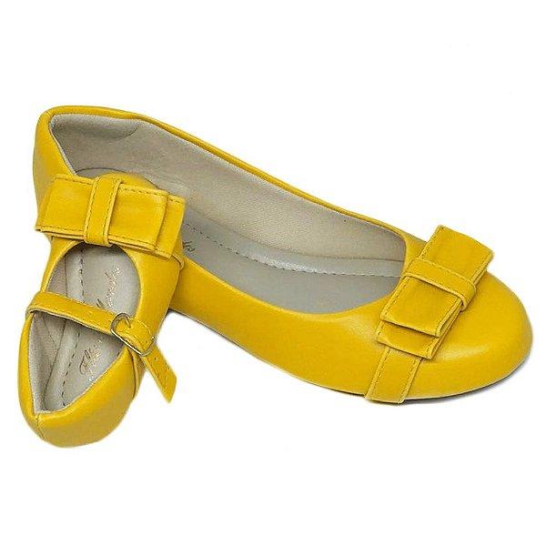 Sapatilha Amarela toda em Napa Palmilha Tradicional