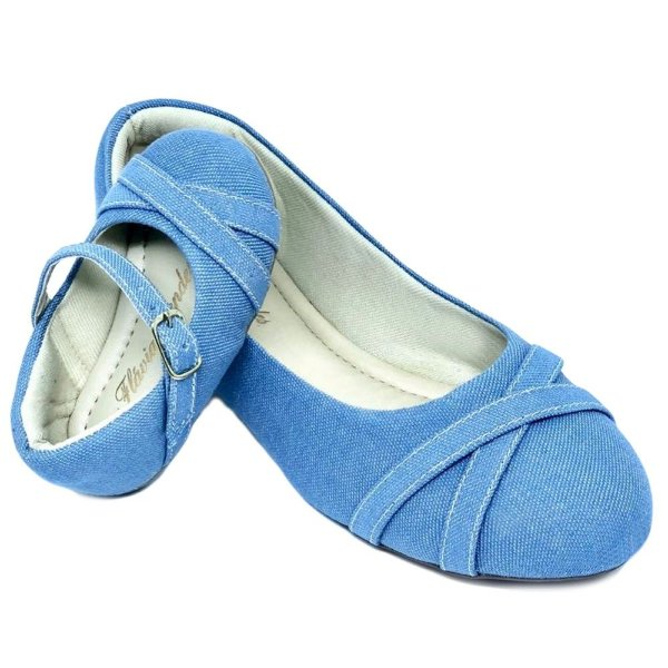 Sapatilha Jeans Azul Claro X Palmilha Tradicional
