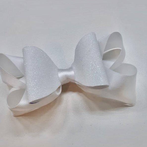 Tiara Branca com Glitter
