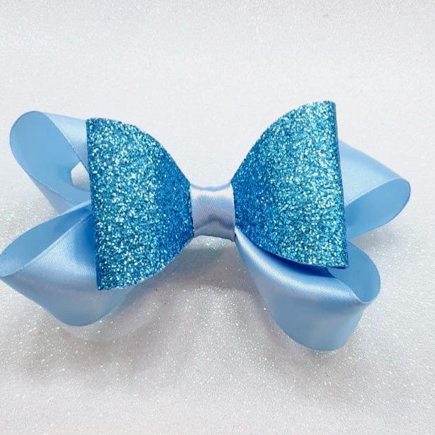 Laço Azul com Glitter