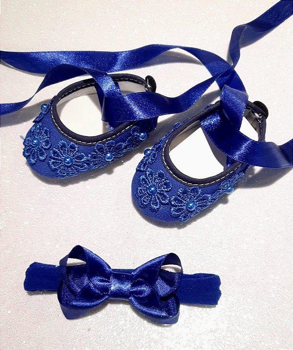 Kit Recém Nascido Azul Royal 2 peças
