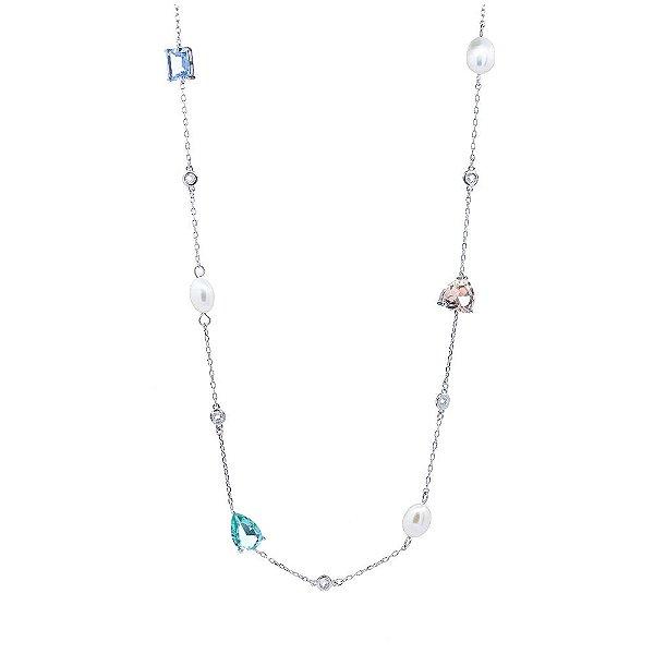 Colar Jewels Longo Prata 925