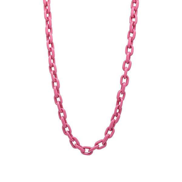 Colar Elos Tie Dye Pink