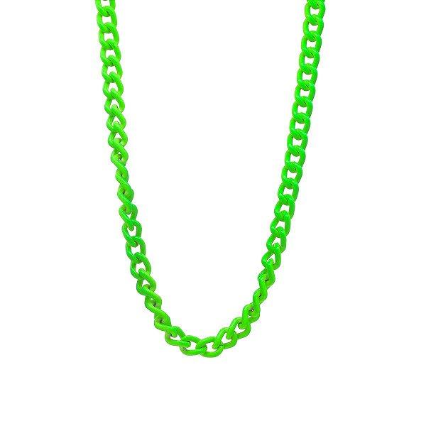Colar Elos Tie Dye Verde Neon