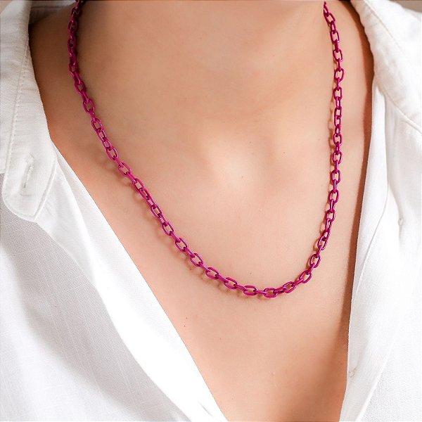 Colar Tie Dye Elos Pink