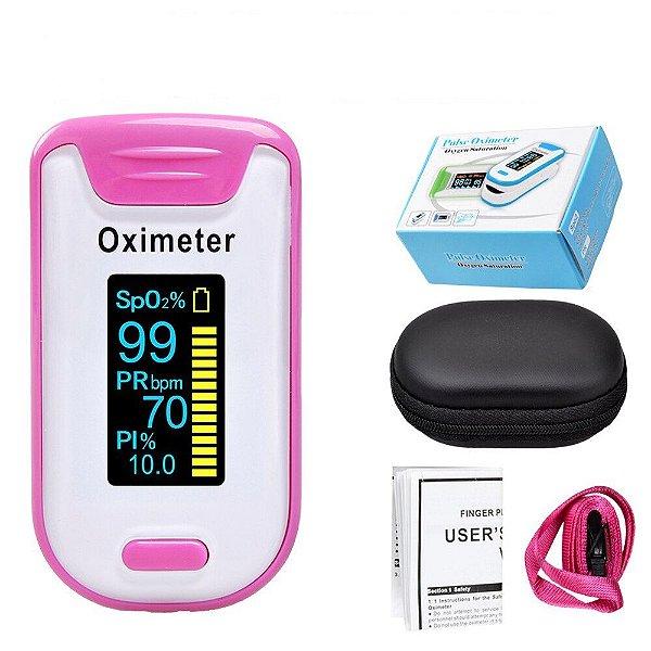 Oxímetro de Dedo Elera Medidor SpO2 + PI Com Visor Led Com Case