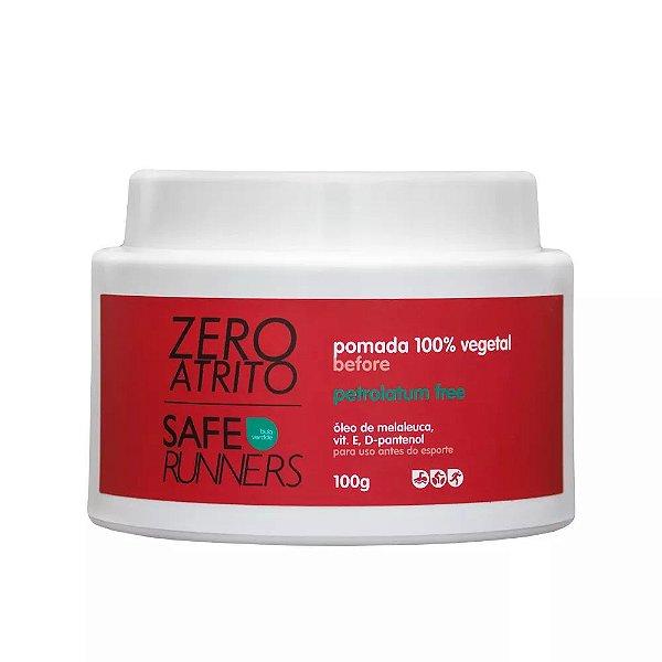 Zero Atrito Pomada Protetora 100% Vegetal Safe Runners - 100g