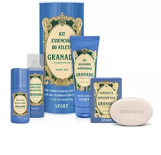 Kit Essêncial do Atleta Granado Sport - 4 produtos
