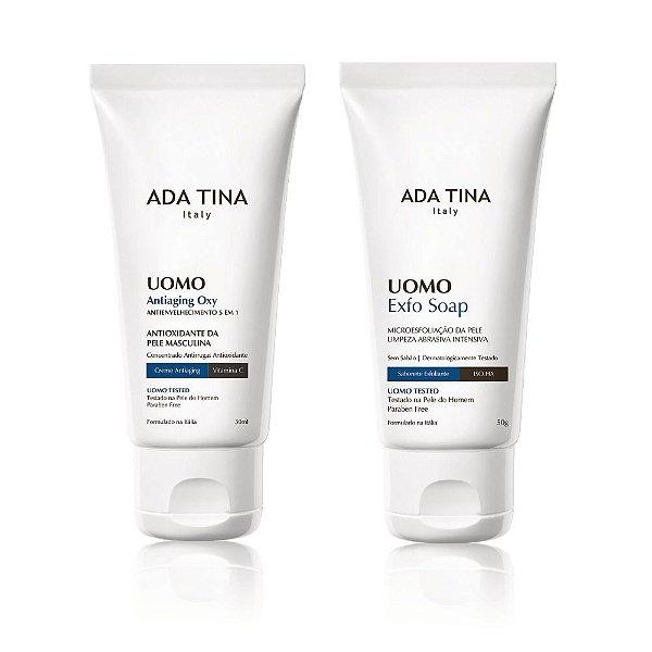 Kit Uomo Ada Tina - Gel Anti-Oleosidade + Sabonete Exfoliante