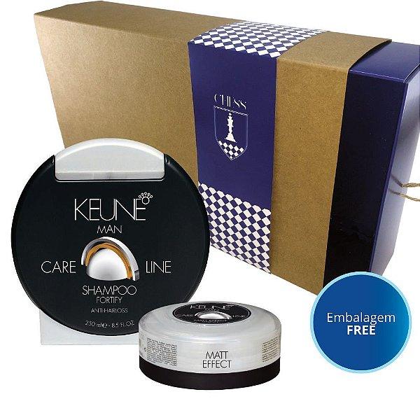 Kit Keune Shampoo Fortify + Cera Matt Effect 30mL