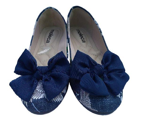 8fb7d6b0eb MV Vitrine calçados femininos sapatilha moleca com laço