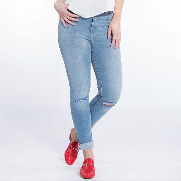 Skinny Jeans Basic com Joelho Rasgado