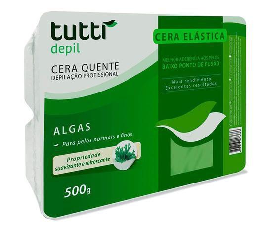 CERA ELÁSTICA DEPILAÇÃO PROFISSIONAL ALGAS 500G / TUTTI DEPIL