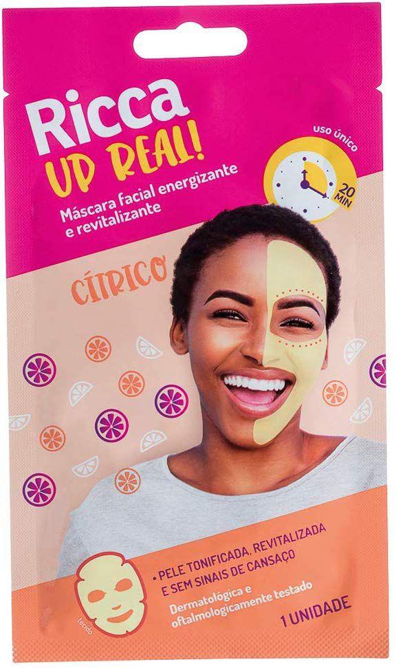 Mascara Facial Energizante e Revitalizante, Ricca, Amarelo