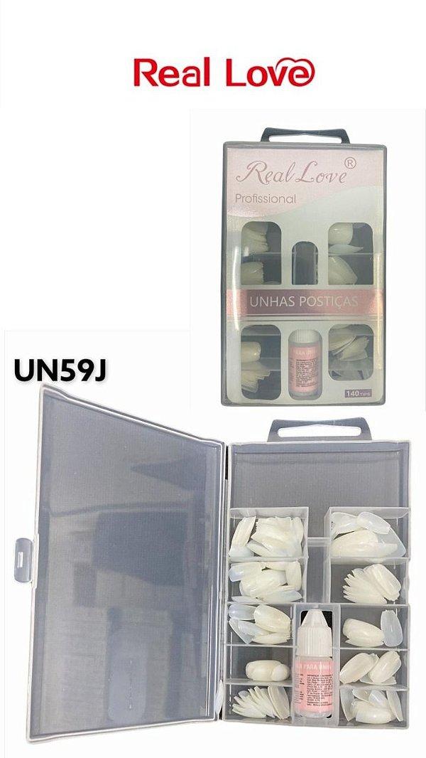 UNHAS POSTIÇA COM 100 UND-UN59J / REAL LOVE