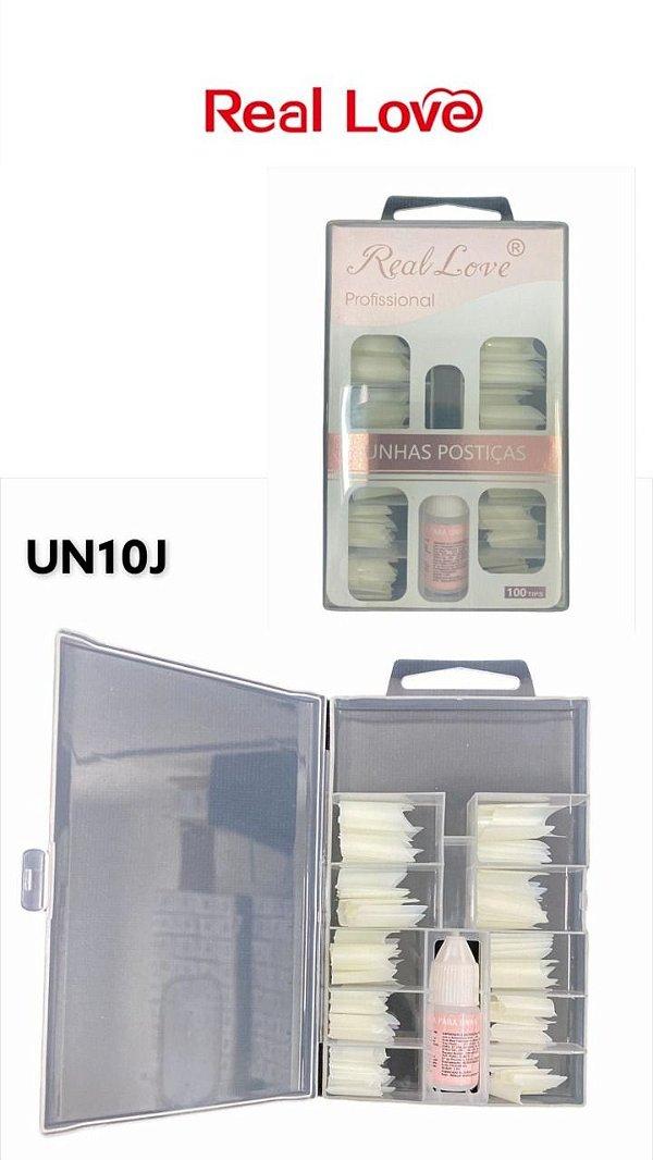 UNHAS POSTIÇA COM 100 UND-UN10J / REAL LOVE