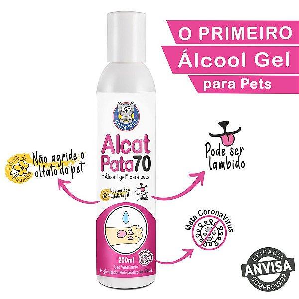 Alcat Pata 70 - Álcool Gel para Pet  ( Higienizador antisséptico de patas )