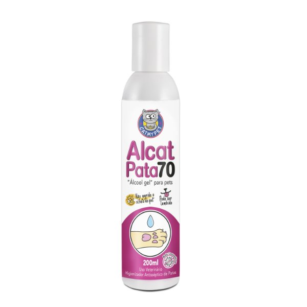 Alcat Pata - Álcool Gel para Pet  ( Higienizador antisséptico de patas )