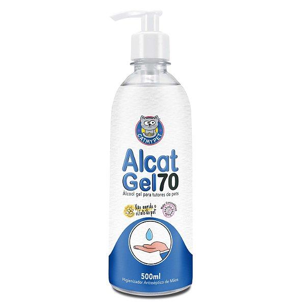 Alcat Gel 70 - Álcool Gel para tutores de Pets ( Higienizador antisséptico para mãos )