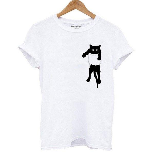 Camiseta gato de bolso